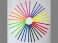 50 x 190mm Plastic Round Coloured Lollypop Sticks in 9 colours