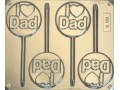 I Love Dad Mould 4 Cavity