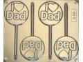 I Love Dad Mould 4 Cavity