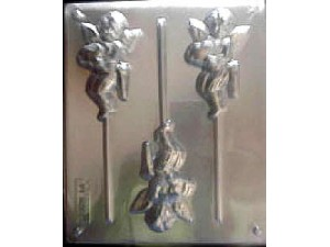 Cupid Holding Heart Chocolate Mould 3 Cavity